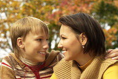 Portrait of a nice mom and her child Royalty Free Stock Image