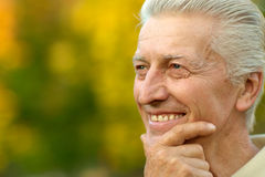 Portrait of a nice old man Royalty Free Stock Photography