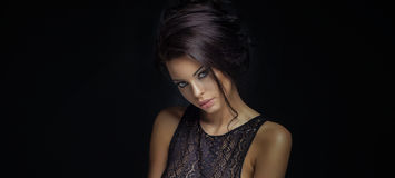 Portrait of nice woman Royalty Free Stock Images