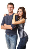 Portrait of a nice young couple Royalty Free Stock Photography
