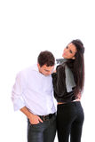Portrait of a nice young couple Royalty Free Stock Photos