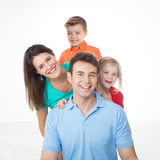 Portrait of nice young family Stock Image