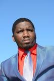 Portrait noir d'homme d'affaires Images libres de droits