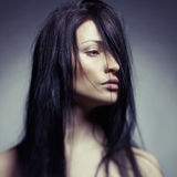 Portrait d'art d'une belle jeune dame Photo stock