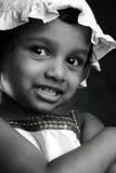 Portrait noir et blanc d'une fille Photographie stock