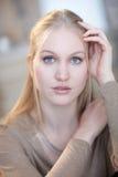 Portrait of nordic type woman stock photo