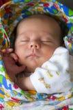 Portrait nouveau-né nouveau-né infantile de bébé de sommeil Images stock