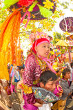 Portrait of novice in Poy-Sang-Long Festival in Northern of Thai Stock Photography