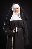 Portrait of a nun Royalty Free Stock Image