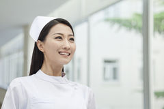 Portrait of Nurse, China, horizontal Royalty Free Stock Image