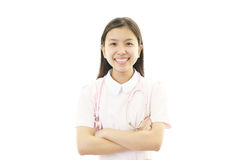 Portrait of a nurse with her arms crossed Stock Image