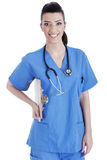 Portrait of nurse holding the clipboard Royalty Free Stock Photography