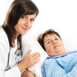 Portrait of nurse and senior patient Stock Photography