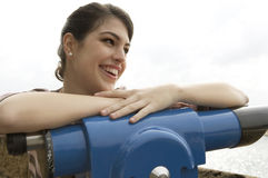 Portrait Observatory Smiling Royalty Free Stock Photography