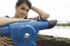 Portrait Observatory Smiling Royalty Free Stock Photos