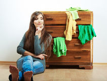 Portrait occasionnel de fille d'adolescent. Stu occasionnel de belle jeune femme Images libres de droits
