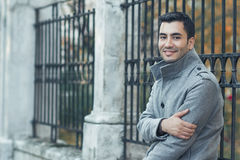 Portrait od smiling gorgeous young attractive man Stock Image
