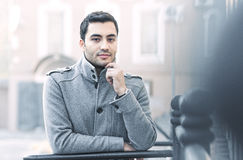 Portrait od smiling gorgeous young attractive man Stock Images