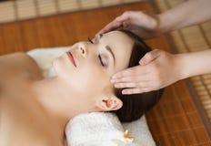 Portrait od a woman on a spa procedure Stock Photo