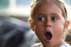 Free Portrait Of A 4 Year Old Girl Yawning Royalty Free Stock Images - 164367629
