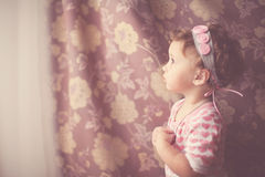 Portrait Of A Baby Girl In Vintage Style Royalty Free Stock Photos