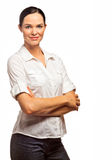 Portrait Of A Beautiful And Confide Business Woman Stock Image