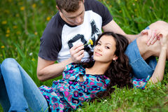Portrait Of A Beautiful Couple Royalty Free Stock Images