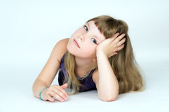 Portrait Of A Beautiful Little Girl Stock Images