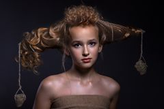 Free Portrait Of A Beautiful Teenager Girl Stock Photo - 163140360