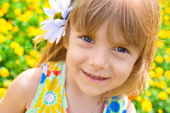 Portrait Of A Beauty Little Girl Royalty Free Stock Photo