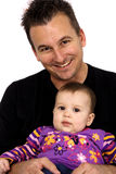 Portrait Of A Father And Baby Stock Photo