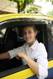 Portrait Of A Female Taxi Driver Royalty Free Stock Photo