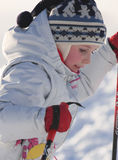 Portrait Of A Girl Skiing Royalty Free Stock Image