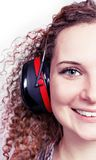 Portrait Of A Girl With Headphones Royalty Free Stock Photos