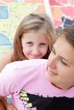 Portrait Of A Girl With Her Mother Royalty Free Stock Image