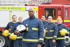Portrait Of A Group Of Firefighters Royalty Free Stock Photo