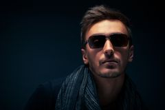 Portrait Of A Handsome Guy, Wearing Sunglasses Royalty Free Stock Photos
