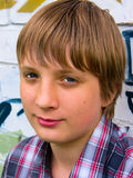 Portrait Of A Handsome Young Guy Stock Photos