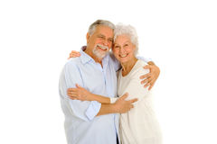 Portrait Of A Happy Couple Of Elderly Stock Photography