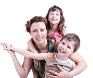 Portrait Of A Healthy, Attractive Happy Family Royalty Free Stock Photo