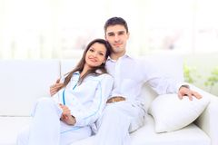 Portrait Of A Lovely Young Couple Stock Photos