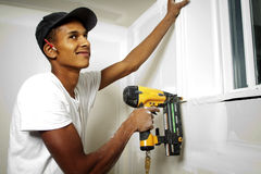 Free Portrait Of A Man Drilling Into A Wall Stock Photography - 21906872
