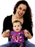 Portrait Of A Mother And Baby Stock Image