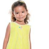 Portrait Of A Pretty Small Hispanic Girl Smiling