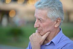 Free Portrait Of A Sad Senior Man Thinking Royalty Free Stock Images - 187569579