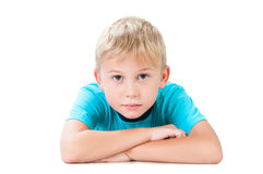 Portrait Of A Serious Boy. Stock Image