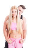 Portrait Of A Sexy, Healthy, Sporty And Beautiful Couple Royalty Free Stock Image