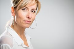 Free Portrait Of A Smiling Middle Aged Caucasian Woman Stock Photo - 99677770