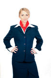 Portrait Of A Stewardess Stock Images