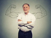 Portrait Of A Strong Old Man Royalty Free Stock Images